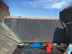 After completion of new roof with new ridge tiles