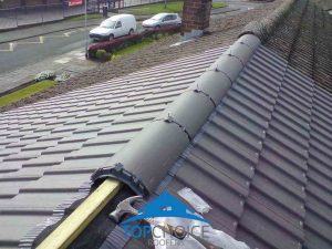 During installation of a new roof ridge in Kildare